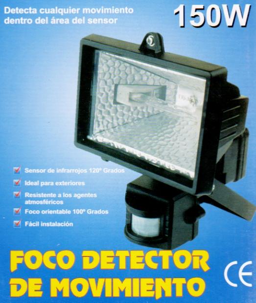 Foco halogeno detector de movimiento con sensor pir de - Sensor de movimiento luz ...