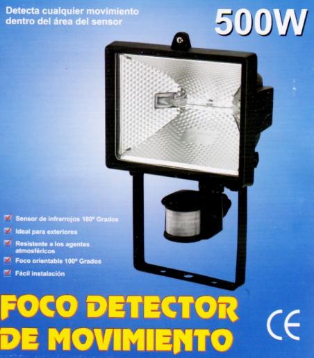 Foco Halogeno Con Sensor Detector De Movimiento Presencia Y Sensor Pir De 180 Grados 12 Metros