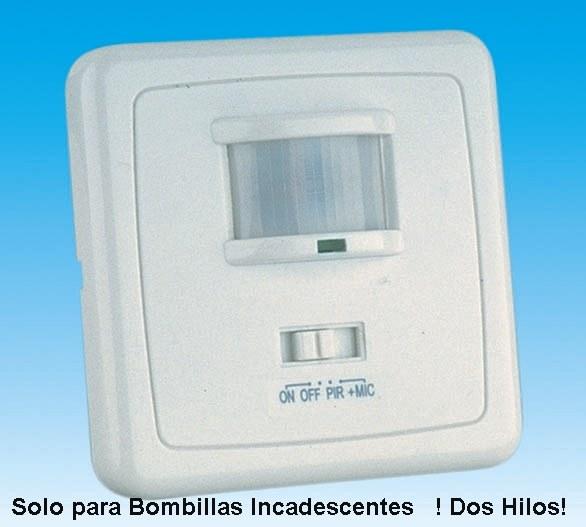 Interruptor detector de movimiento presencia empotrable en for Luz con detector de movimiento