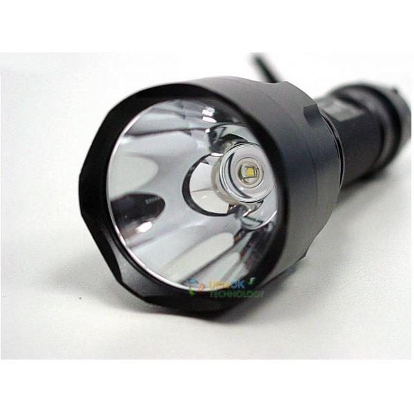 Linterna led recargable tactica con 345 lumen de potencia - Linterna recargable led ...