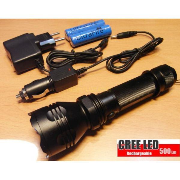 Linterna recargable led cree potencia de 500 lumen con led - Linterna led recargable ...