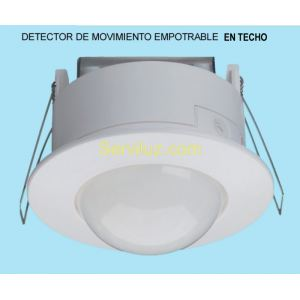 Detector de Movimiento Presencia de Techo Empotrable con Sensor de 360