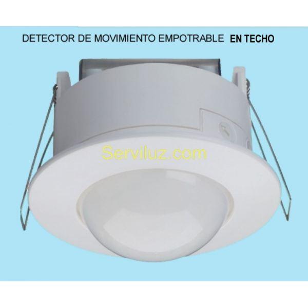 Detector de movimiento presencia empotrable de techo con - Lamparas con detector de presencia ...