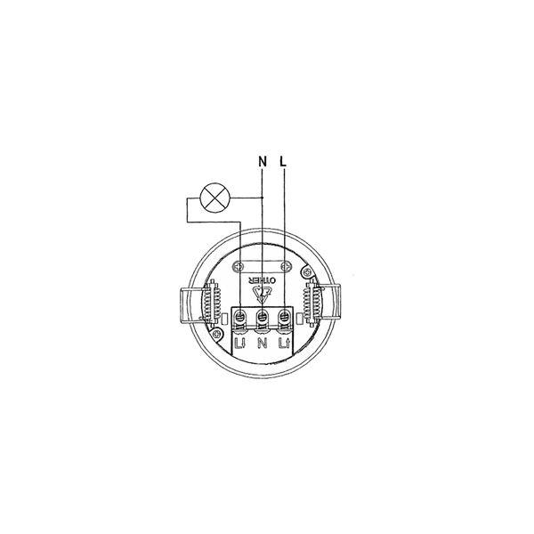 Detector de movimiento presencia empotrable de techo con - Detector de movimiento ...