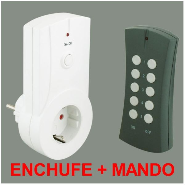Enchufe mando inalambrico remoto mando enchufes for Enchufe con mando
