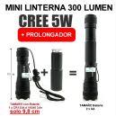Mini Linterna LED 5W de POTENCIA 300 Lumen (Tamaño 9.8 cm)