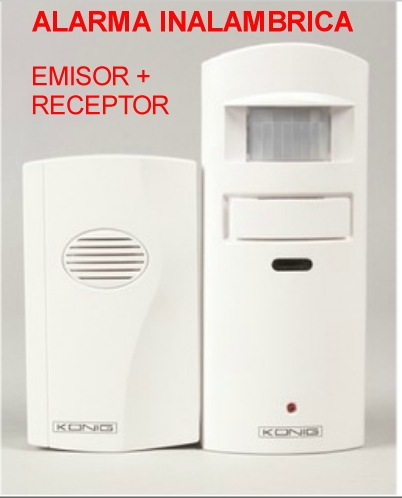 Alarma inalambrica con sensor de movimiento autonoma - Sensores de movimiento con alarma ...