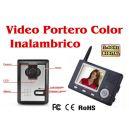 "Videoportero INALAMBRICO a Color con pantalla 3,5"""