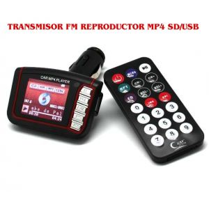 Transmisor FM reproductor  MP4 SD/USB