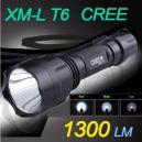 Linterna Led CREE C8 XM-L T6, 1.300 Lumen
