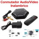 Selector AV Audio/Video Inalambrico de 4 Vias RCA
