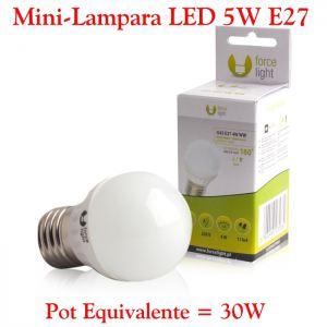 Mini-Bombilla LED E27 5W Luz LED E27 5W Calida