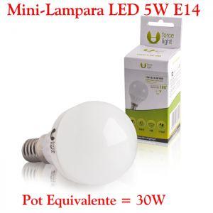 Mini-Bombilla LED E14 5W Luz LED E14 5W Calida