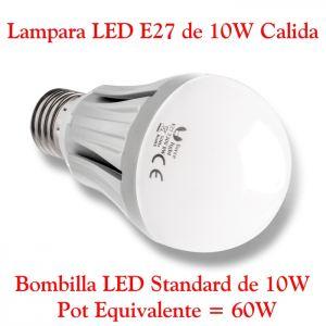 Bombilla LED E27 10W Luz LED E27 10W blanco cálido