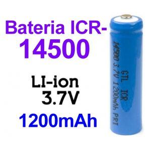 Pila-Batería ICR-14500 recargable Litio-Ion 3.7v 1200 mAh