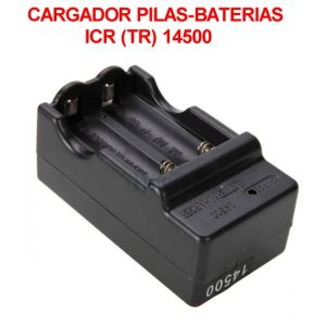 Cargador Pilas/Baterias 14500 Cargador para ICR 14500 Doble Dig