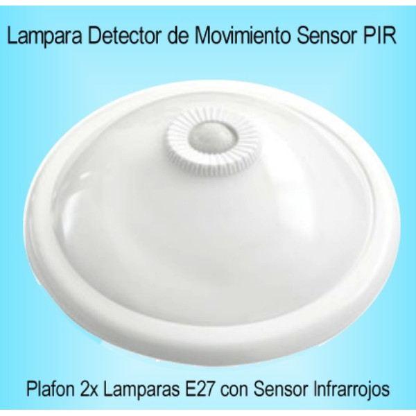 Lampara detector de movimiento presencia plafon sensor pir for Luz con detector de movimiento