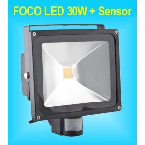 Foco LED Sensor de Movimiento y Presencia PIR de 30W para Exteriores IP65