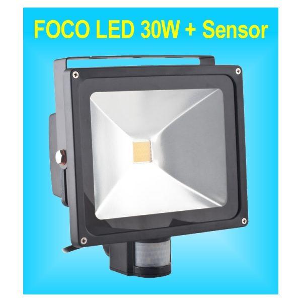 Foco Led Sensor De Movimiento Y Detector De Presencia Pir De 30w Para Exteriores Ip65