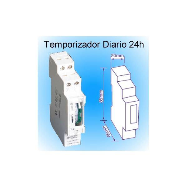 Temporizador electrico diario 24h analogico guias din - Temporizadores de luz ...