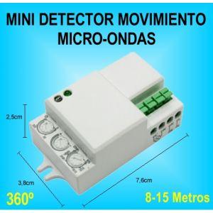 Mini detector de movimiento y presencia sensor microondas - Detector de luz ...