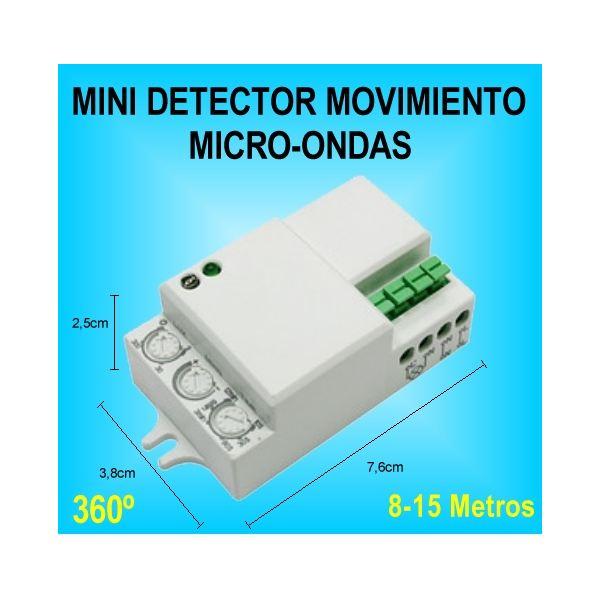Mini Detector De Movimiento Y Presencia Sensor Microondas Para Luz