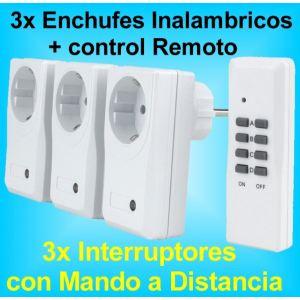 3x Enchufe Inalambrico Interruptor con Mando a Distancia DIO
