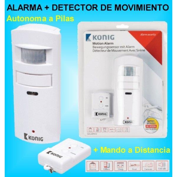 detector de movimiento y presencia con alarma mando a