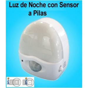 Luz de noche con sensor de movimiento y 3 led a pilas - Sensor de movimiento con luz ...
