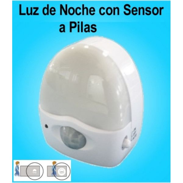 Luz De Noche Con Sensor De Movimiento Y 3 Led A Pilas