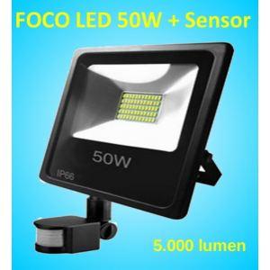 Foco Led 50W con sensor de Movimiento y presencia