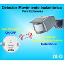 Sensor de Movimiento Inalambrico Detector Exterior a Pilas + Rele ON-OFF