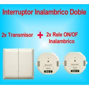 Doble Interruptor Inalambrico + 2x Rele de encendido