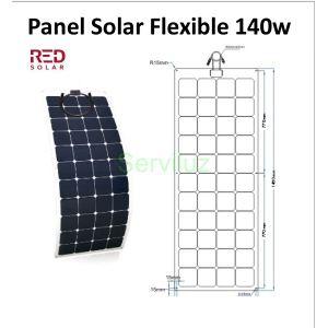 Panel Solar Flexible de 140w para Barcos y Autocaravanas
