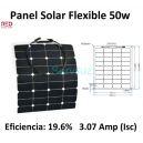 Panel Solar Flexible de 50w para Barcos y Autocaravanas