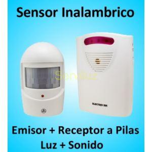 Sensor de Movimiento Inalámbrico Anunciador de visitas con luz y sonido