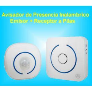 Avisador de Movimiento Presencia Inalámbrico ( Emisor + Receptor) a Pilas