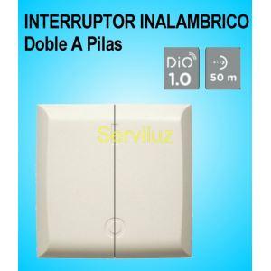 Interruptor Inalámbrico Doble a Pilas para pared DI-O