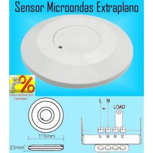 Detector de Movimiento Sensor Microondas (Radar) Extraplano