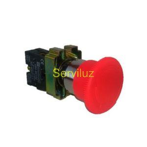 Pulsador SETA NC de Emergencia de 40mm Instalado en Cuadro Eléctrico