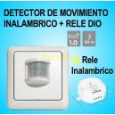 Sensor Detector de Movimiento Inalámbrico Clasic (Emisor + Receptor) + Relé DIO