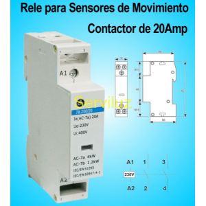 Rele Para detectores de Movimiento y Sensores de Presencia de 20Amp