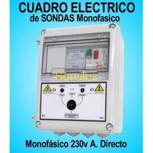 Cuadro Eléctrico con Sondas para Bomba de Pozo Sumergible Motor Monofásicos 0.75 1 HP