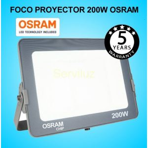 Foco Proyector LED 200W OSRAM IP65 4000K Exterior e Interior