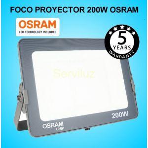 Foco Proyector LED 200W OSRAM IP65 6000K Exterior e Interior