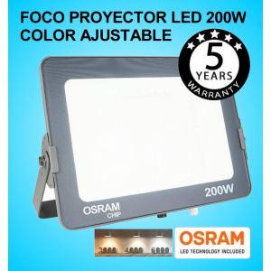 Foco Proyector LED 200W OSRAM IP65 Color Ajustable Exterior e Interior