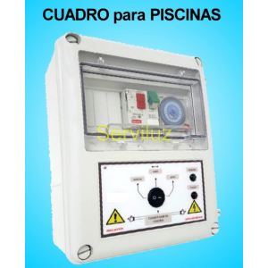 Cuadro Electrico Piscinas de 2 HP Proteccion y Filtración Monofasico CSF-204