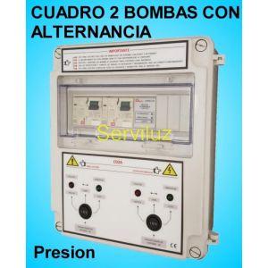 Cuadros 2 bombas en Alternancia Grupos de Presion 0,75-1 HP Trifásico CSD2A-403