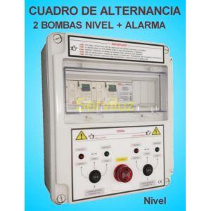 Cuadro de Alternancia Proteccion 2 Bombas y Alarma 380V 0.50 HP CSD2AL-402