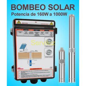 Bombeo Solar Directo Bomba Sumergible y Cuadro Electronico 110V 1000W BS41000125